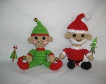 Little Ami Santa and Elf Crochet Pattern