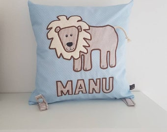 Cuddle Pillow Lion with Name