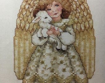 Golden Angel fully kitted cross stitch kit with pattern