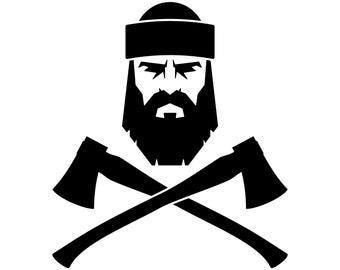 Lumberjack, SVG,Graphics,Illustration,Vector,Logo,Digital,Clipart