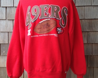 90s Vintage San Francisco 49ers sweatshirt - large - Russell Athletic - Forty Niners