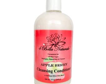 Apple Berry Cleansing Conditioner 12oz.  Handcrafted, Natural, Babassu Oil, Shea Butter, Organic