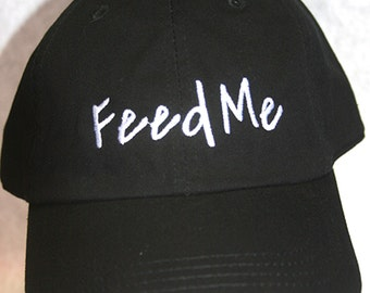 Feed Me (Polo Style Ball Black with White Stitching)