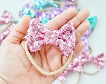 Pink Mini Sparkle Bow