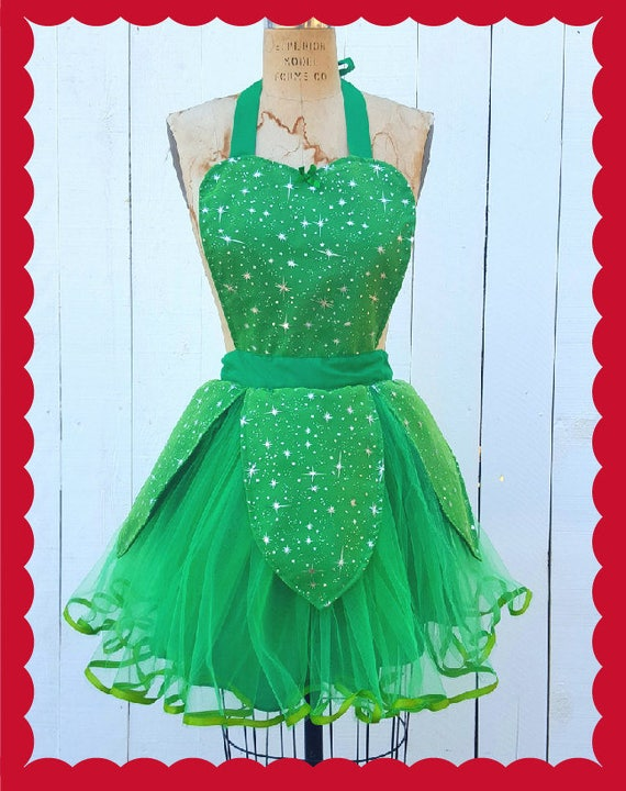 Tinkerbell costume apron Tinkerbell tutu womens apron fairy
