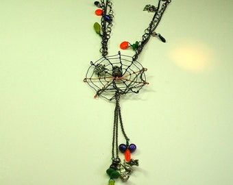 Halloween Spiders Lair Necklace