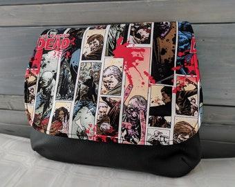 Walking Dead Comic Panels KELSI II Cross Body Purse Mini Messenger