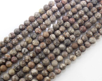 Natural Medical Stone Jasper Gemstone Round Beads  for Jewelry Making Crafts ---15-16 inches -NC166