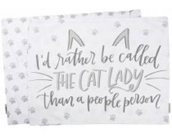 Cat Lady Pillow Case