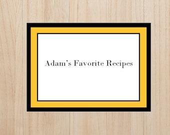 Black and Gold Cookbook, Recipe Book