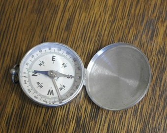 vintage small pocket compass