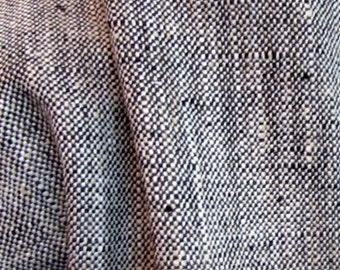 very french RUSTIC WOVEN black / lots of textures tweed multipurpose fabric