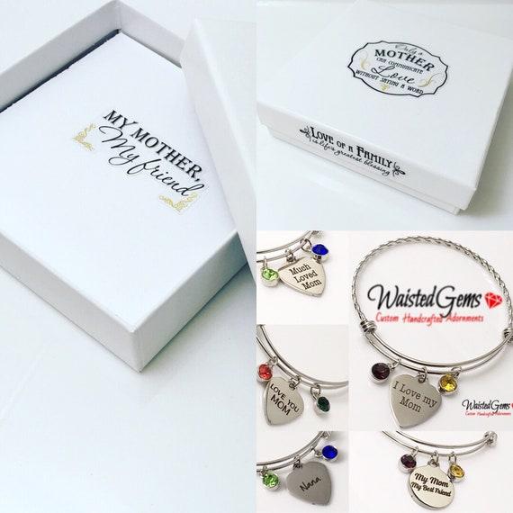 Choice of Mother's Day Charm Bracelet, Mothers Day Gifts,  Gifts for her,  Gifts, Grand Mothers Day Bracelet, Stackable Bracelet zmw5505.33