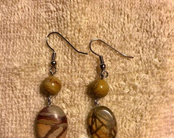 ladies red creek jasper earrings.