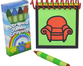 Erasable Blue's Clues Handy Dandy Notebook with Box 4 Jumbo Crayons