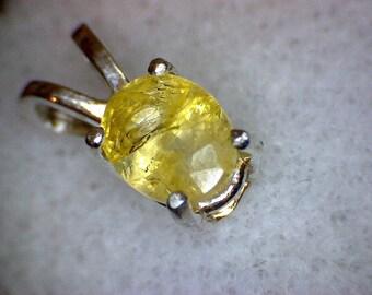 Stunning Yellow Sapphire Pendant