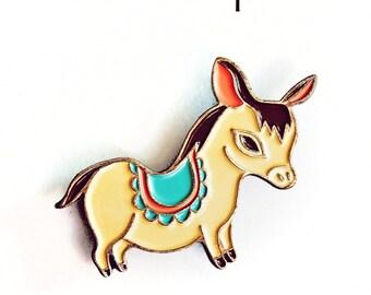 Enamel Pins / DONKEY PIN, Burro Brooch - Boygirlparty Pin - mexican folk art, cute lapel pins, backpack pins, animal enamel pins travel