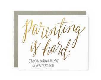 Grandparenting - letterpress card