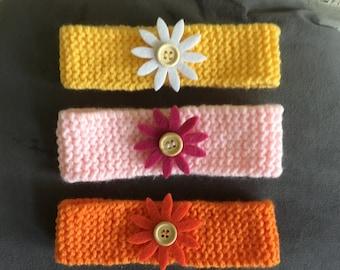 Baby birth with flower button headband
