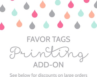 Favor Tag Printing Add-On