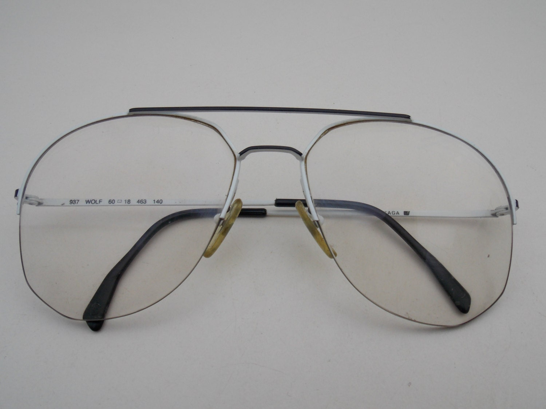 Skaga Gläser wolf-Retro-Brille weißer Rahmen Gläser
