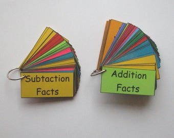 2 Teacher Made Math Learning Resources Basic Addition & Subtraction Facts Fluency Rings