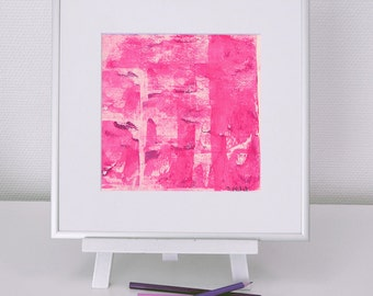 Abstract image 3, neon pink-Rosa, original, mixed media, acrylic, modern, for her, for him, home decode, type, #christmas, #Weihnachten