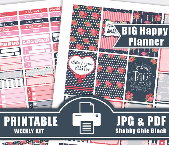 Pretty Floral Spring theme planner stickers for ECLP, IWP, kikkik, Happy  Planner, Mambi, inkwell, Plum Paper, Day Designer w/optional Washi