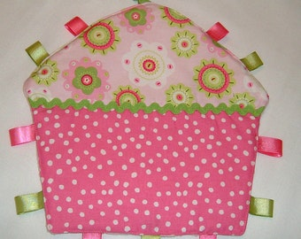 Cupcake Shaped  Lovey/Security Blanket