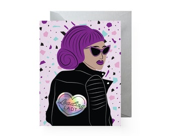 Leading Lady Holographic Sticker Card