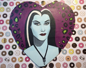 Lily Munster Heart Shaped Painting