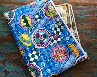 medium zipper pouch Super Hero Women