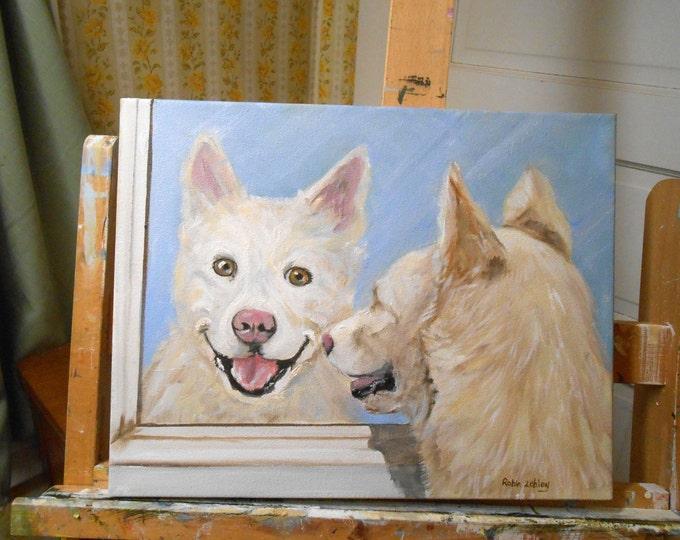 Dog Portrait Painting, Oil Painting, Custom Pet Portrait, Custom Cat Portrait, Custom Portrait Painting, Pet Portrait by Artist Robin Zebley