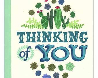 Thinking of You Succulents Card