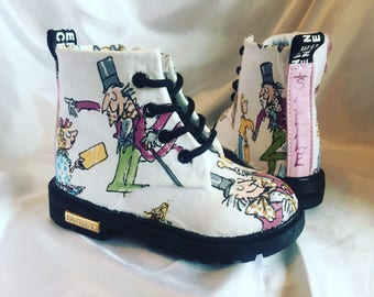 Charlie and the Chocolate Factory Shoes - Children's Boots - Roald Dahl - Custom