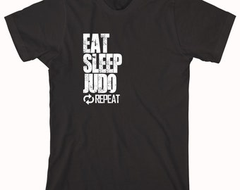 Eat Sleep Judo Repeat Shirt - karate, martial arts, cage fighting, gift idea - ID: 757