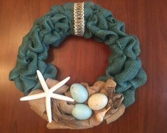 """Coastal Wreath 12"""" diameter"""
