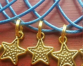 Lot of 10 Birthday Party Favors Necklaces Starfish Beach Ocean Sea Luau  Blue  Cords Free Shipping