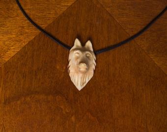 Hand Carved Tettegouche Wolf Spirit Necklace