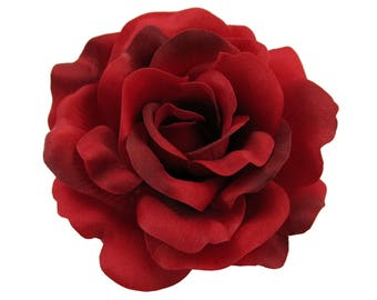 Rose Flower Hair Clip, 7 Colors Available