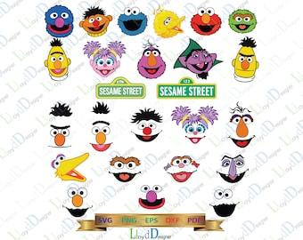 Sesame Street SVG Digital Sesame Street Birthday Party Decor Sesam Street sign clipart shirt Sesame Street dxf svg eps png file cameo cricut