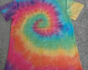 Rainbow tie dye swirl tshirt