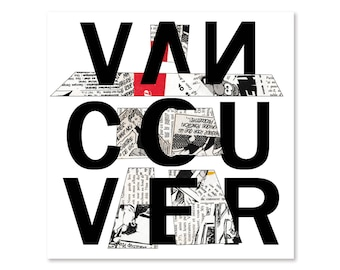 11x11'Vancouver Poster, Inuksuk illustration, Graphic Design, Geometric, Typography