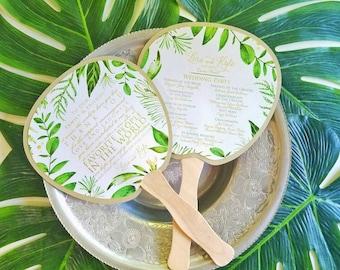 Program Fan, Tropical  Wedding Program, Destination Wedding, Wedding, Beach wedding, Ocean Wedding, Fan, Program, Wedding, Wedding Thank you