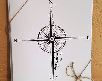 Wanderlust Compass Blank Note Cards