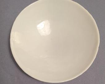 White handmade bowl.