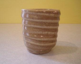 Handthrown Ceramic Pottery No Handle Mug, Cup