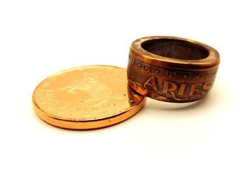 Zodiac coin ring. All 12 Zodiacs Signs available. Aries Taurus Gemini Cancer Virgo Libra Scorpio Pisces Leo Sagittarius Capricorn Aquarius