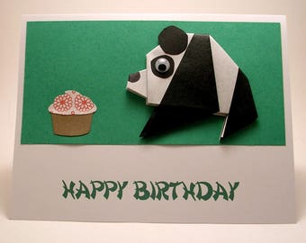 Origami Panda Birthday Card