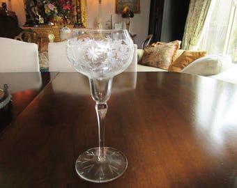 ANTIQUE CHAMPAGNE GLASS